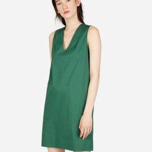 Everlane Clean Cotton V-Neck Dress